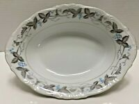 Harmony House China Vegetable Bowl , Vintage Pattern, Dawn Gray, Horizon Blue