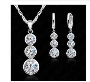 Schmuck Set Collier / Halskette und Ohrstecker Silber 925