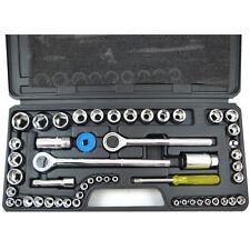 Socket Set 1/4 3/8 1/2 Sockets 2 Ratchets Rachet Extension Bits Tool New