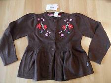 CAKEWALK schöne Strickjacke braun Blumenapplikation CABARET Gr. 128 NEU ST116