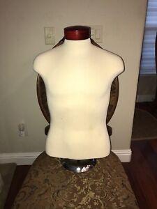 High Grade! Adjustable Mannequin Shirt Form Neck Block Male Torso Mannequin.