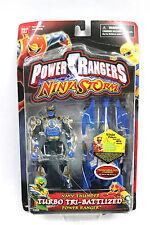 NIB Power Rangers Ninja Storm: Navy Thunder Turbo Tri-Battlized Power Ranger