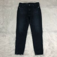 AG Adriano Goldschmied The Stevie Ankle Jeans Size 26 R Dark Slim Straight Ankle