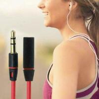 4ft 3.5MM Audio-Aux-Kopfhörer-Verlängerungskabel für Stereo-Kabel Roter V5M S9Q7