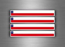 4x FLAG STICKER AUTO MOTO Motorcycle Tuning Flag Flag Stripes Chile