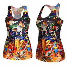 Steampunk Cartoon Bosch Inspired Singlet Top Shirt Print