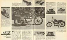 1973 Miniature Motorcycle Masterpieces - 2-Page Vintage Article