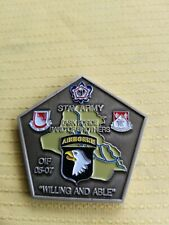 Rare US Army Airborne TASK FORCE BAND OF BROTHERS OIF 05-07 CHALLENGE COIN