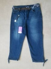 Bandolino Womens  Amy Capri Belted Jeans Size 12  New With Tags