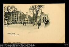 1305.-BARCELONA -316 Plaza Palacio (Hauser y Menet) Postal sin división