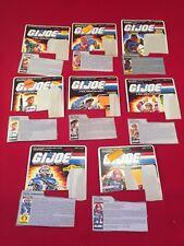Vintage GI Joe File Card lot 8 cards Almost Complete Cut Cobra Commander More...