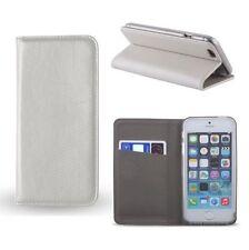 % Samsung Galaxy J5 Flip Tasche Hülle Etui Book Case SMART MAGNET weiß metalic