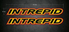 INTREPID Stickers - Decals 2 x 200mm x 24mm - Karting - Printed & Laminated