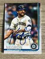 Kristopher Negron Signed 2019 Topps Series Two 2 Autographed Card Auto Mariners