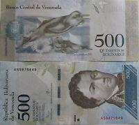 """BILLETE """"  VENEZUELA   """"  500  BOLIVARES    AÑO : 2016   UNC    PLANCHA"""