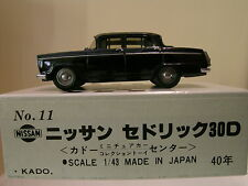 KADO OF JAPAN No.11 NISSAN CEDRIC 30D 1960 BLACK COLOUR BOXED SCALE 1:43