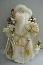"14"" Santa Christmas Tree Topper Gold"
