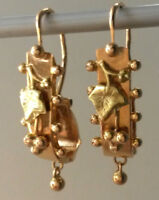 Boucles d'oreilles Napoléon III - Poissardes  or 18k - Old french earrings XIX