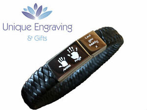 Personlised engraved tribal leather ID bracelet - Great Valentine's Gift!