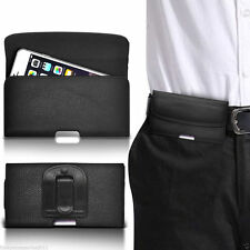Horizontal Belt Clip Quality Pouch Holster Top Flip Case Holder✔Black