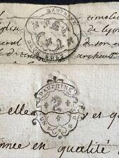 Lot Of Two Manuscripts 1743, 1745