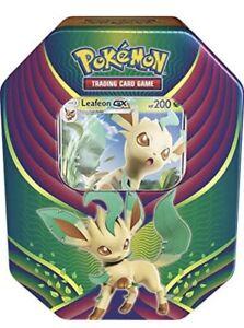 Pokemon TCG Card Evolution Celebration Tin - Leafeon GX - FACTORY SEALED ⭐️eevee