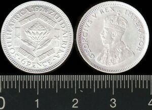 South Africa 1926 6 Pence KGV silver Zuid Afrika sixpence 6d EF cat US$45 = A$65