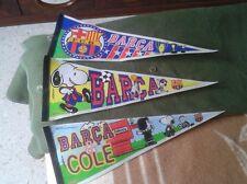 3 BANDERINES BANDERAS BANDEROLAS FÚTBOL BARCELONA BARÇA DIARIO SPORT 1998 SNOOPY
