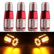 4X Amber T10 3014 Strobe Blink 57-smd Canbus 194LED Bulbs Signal Brake Stop Bulb