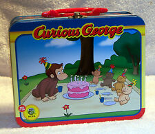 Curious George Monkey Lunch Box Tin Kettle 2011 Pressman Toys #10593