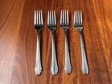 Set of 4 Gorham Flatware Salad Forks-Stainless Silverware-Calais Pattern-Japan