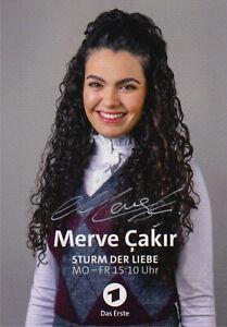 Merve Cakir - Sturm der Liebe - ARD - Autogrammkarte