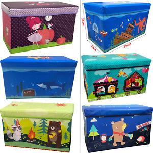 Childrens Kids Storage Toy Box Present Boys Girls Seat Stools Gift Boxes