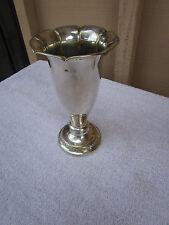 """Rare Vintage Silver flower vase from NORWAY """"TIL TANTE OG ONKEL FRA marie 1949"""""""
