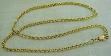 "14K Yellow Gold 585 Signed ""VIOR"" Italy Italian 16"" Chain Necklace 5g Spot Price"