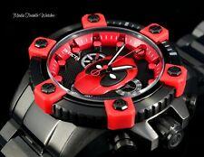 50MM Invicta Marvel DEADPOOL Ltd. Edi. Swiss Quartz Chronograph Black Red Watch