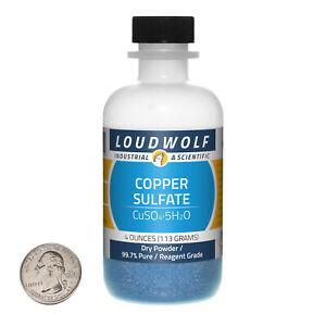 Copper Sulfate / 4 Ounce Bottle / 99.7% Pure Reagent Grade / Dry Powder / USA