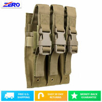 Tan Adjustable Flap Pistol Triple Double Stack Magazine Pouch MOLLE PALS