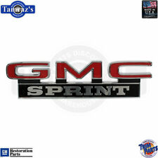"""71-72 GMC Sprint Rear Tailgate /"""" GMC SPRINT /"""" Emblem Letters Made in the USA"""