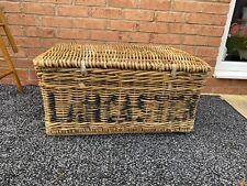 "Large Reclaimed ""LANCASTER"" Wicker Laundry Basket/Hamper"