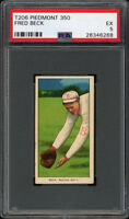Rare 1909-11 T206 Fred Beck Piedmont 350 Boston PSA 5 EX