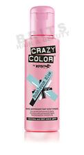 Crazy Color Semi Permanent Hair Tint Bubblegum Blue 63 Colour 100ml X4
