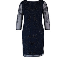 New PISARRO NIGHTS Sheath Gown Uk10 Cocktail dress RP£187 Lovely Ladies Gift