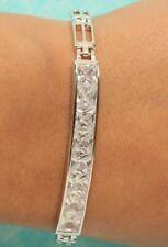 """0.5 Carat Diamond Bracelet 14K White Gold Finish Tennis 7.5"""" Simple Gift for Her"""