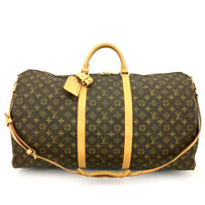 Auth Louis Vuitton Monogram Keepall Bandouliere 60 Boston Travel Hand Bag /71047