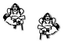 Angry Fireman stickers twin pack 120mm high  + donation to burns unit