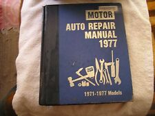 Motor Auto Repair Manual 1977 40th Edition