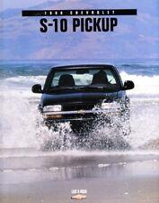 1998 98 Chevrolet S10 Pickup original  brochure MINT