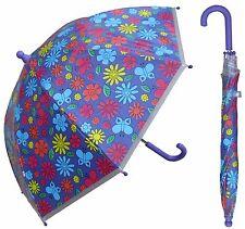 "32"" Arc Children Floral Flower Print Plastic Umbrella - RainStoppers Rain/Sun"