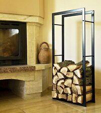 étagère en bois de cheminée Support 100cm panier à pour